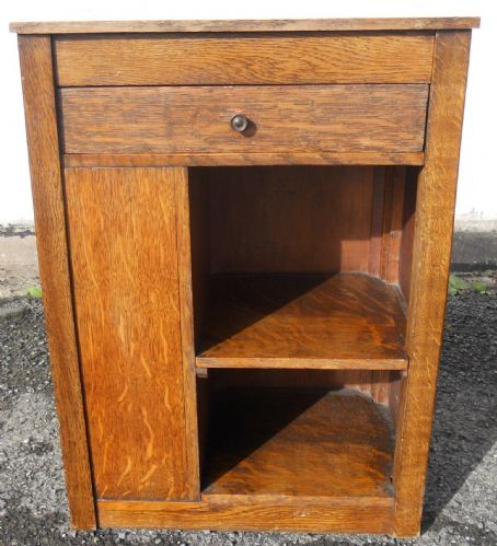 Small Oak Bedside Cabinet